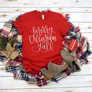 Christmas Unisex T-shirt - Red